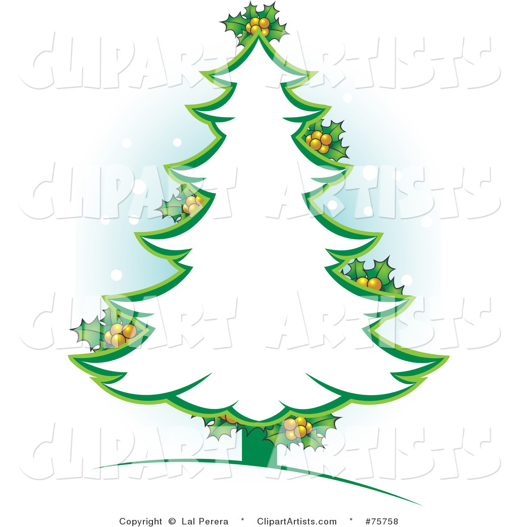 16 Christmas Tree Outline Vector Images - Cartoon ...