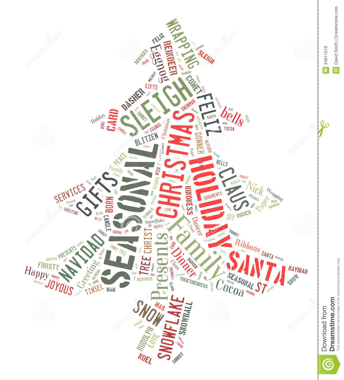 Christmas Tree Word Cloud-Free