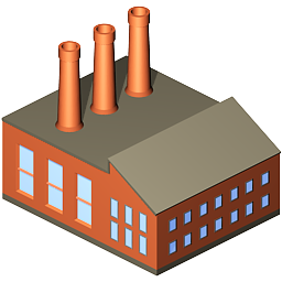 8 Manufacturing Plant Icon Images