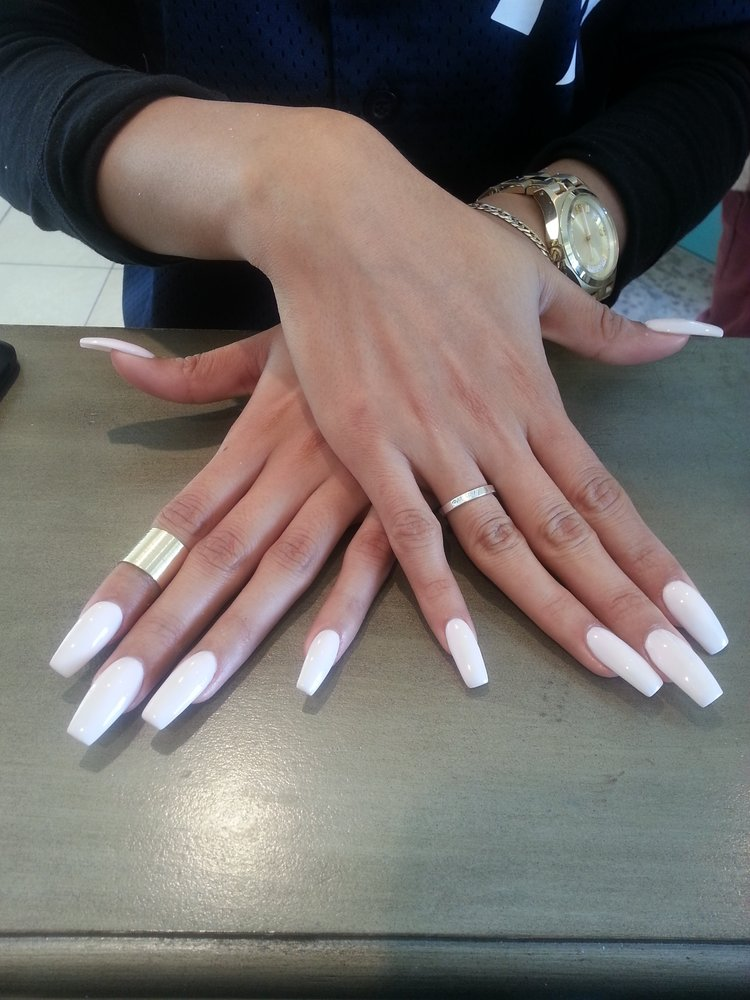 14 Short Coffin Shaped Nails Designs Images Coffin Shaped Nails