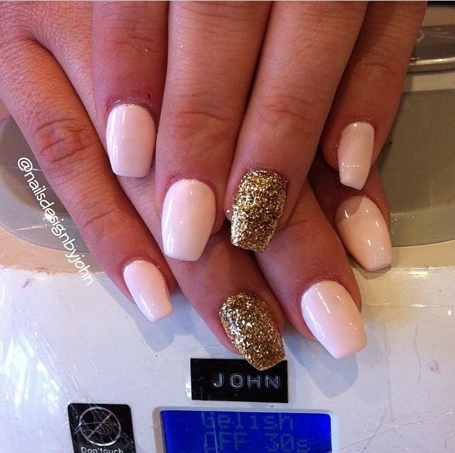 14 Short Coffin Shaped Nails Designs Images Coffin Shaped