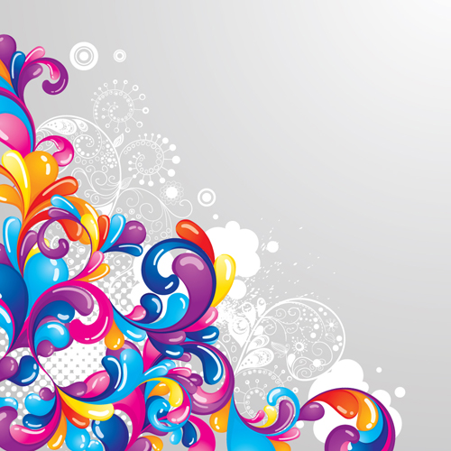 18 Vector Colorful Swirls Images - Colorful Vector ...