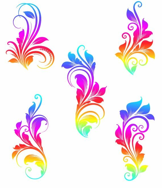 18 Vector Colorful Swirls Images