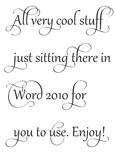Cool Fonts On Microsoft Word