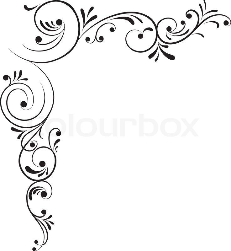 Corner Border Designs Clip Art