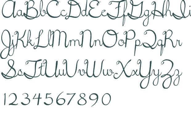 16 Cursive Font Alphabet Images