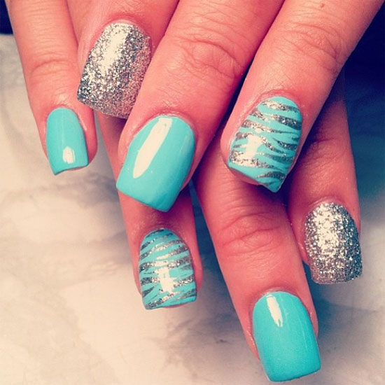 15 Pretty Nail Designs For Acrylic Nails Images