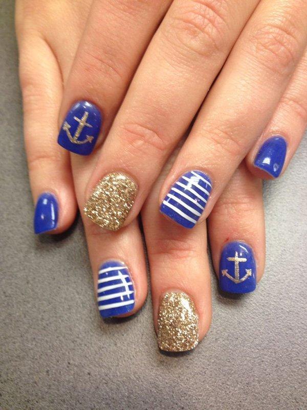 Cute Anchor Nail Art Designs