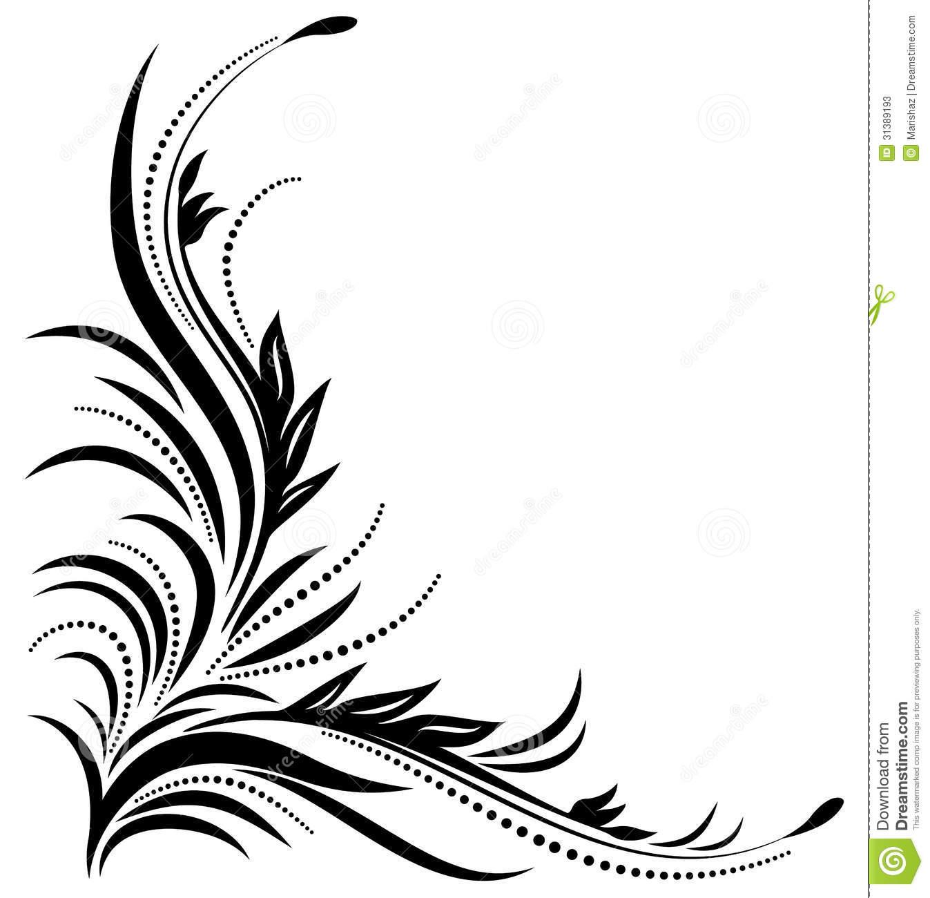 14 Fancy Swirl Corner Designs Images - Swirl Corner ...