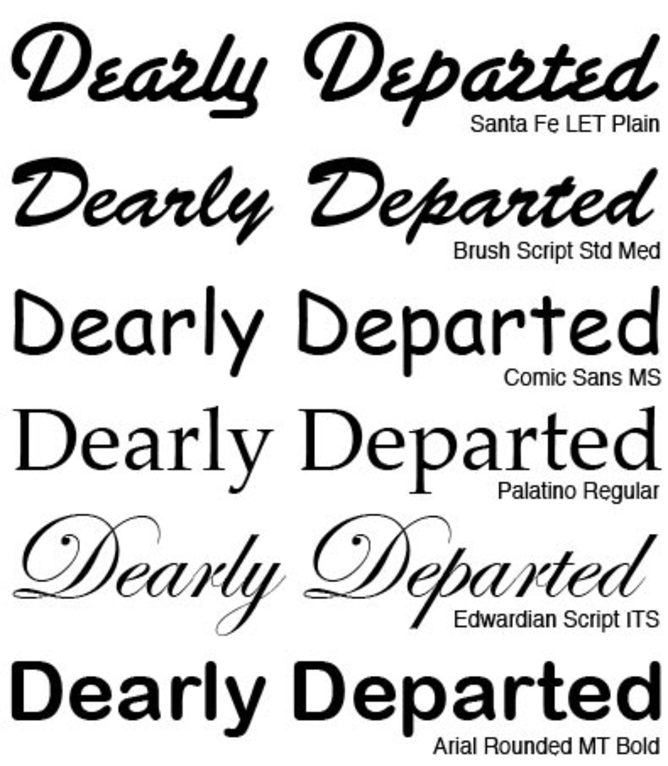 Different Fonts Microsoft Word