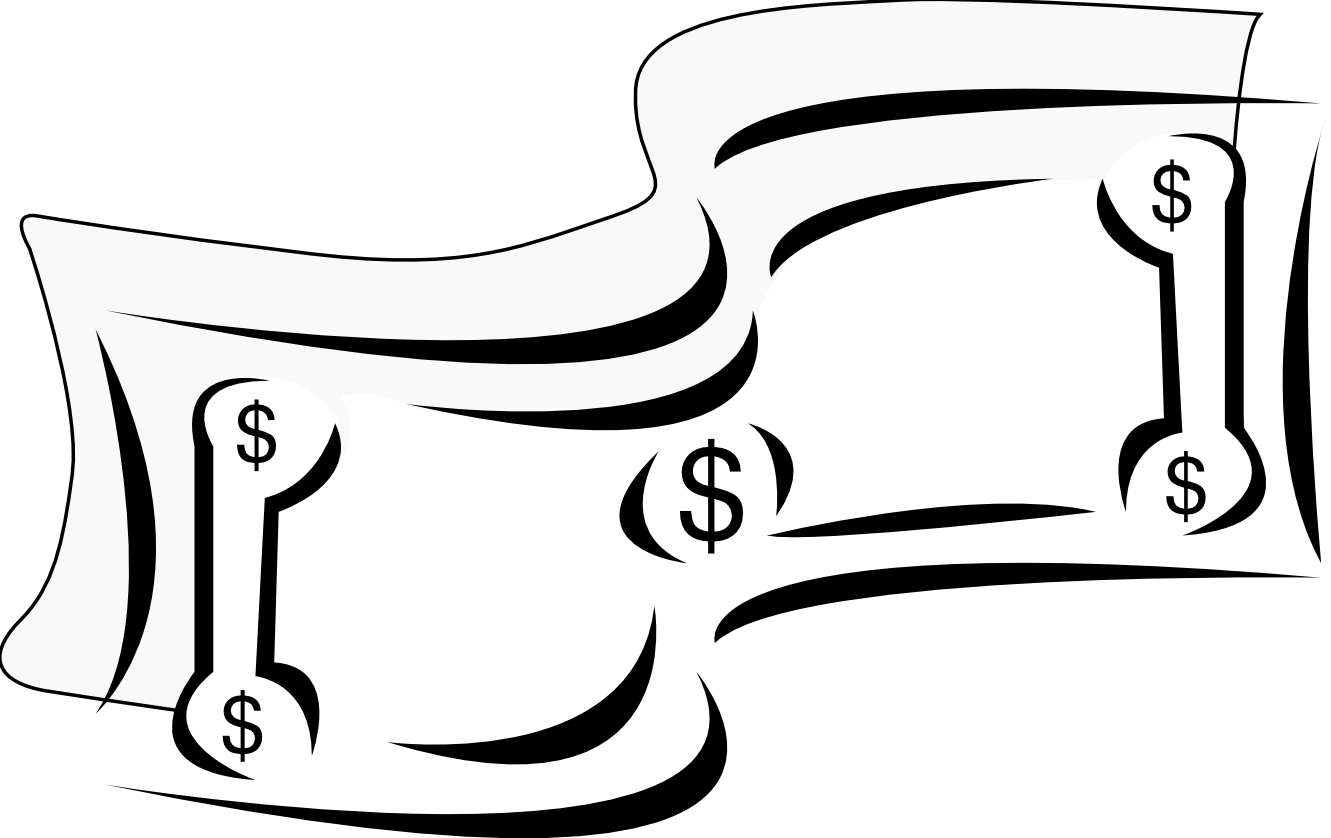 Dollar Sign Clip Art Black and White