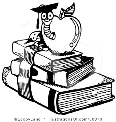 Education Clip Art Black and White