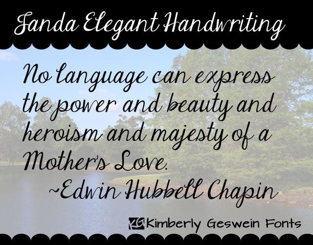 5 Janda Elegant Handwriting Font Images