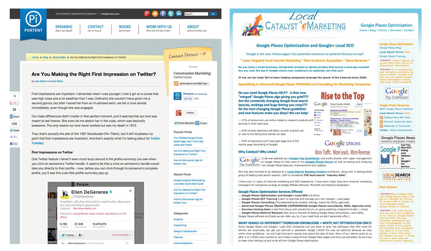 Examples of Good Web Design Website