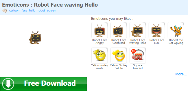 Facebook Smiley Emoticons Animated