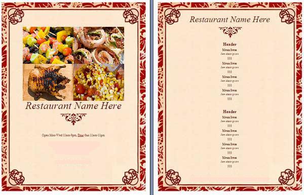 6 fancy restaurant menu designs images fancy restaurant menus upscale italian restaurant. Black Bedroom Furniture Sets. Home Design Ideas