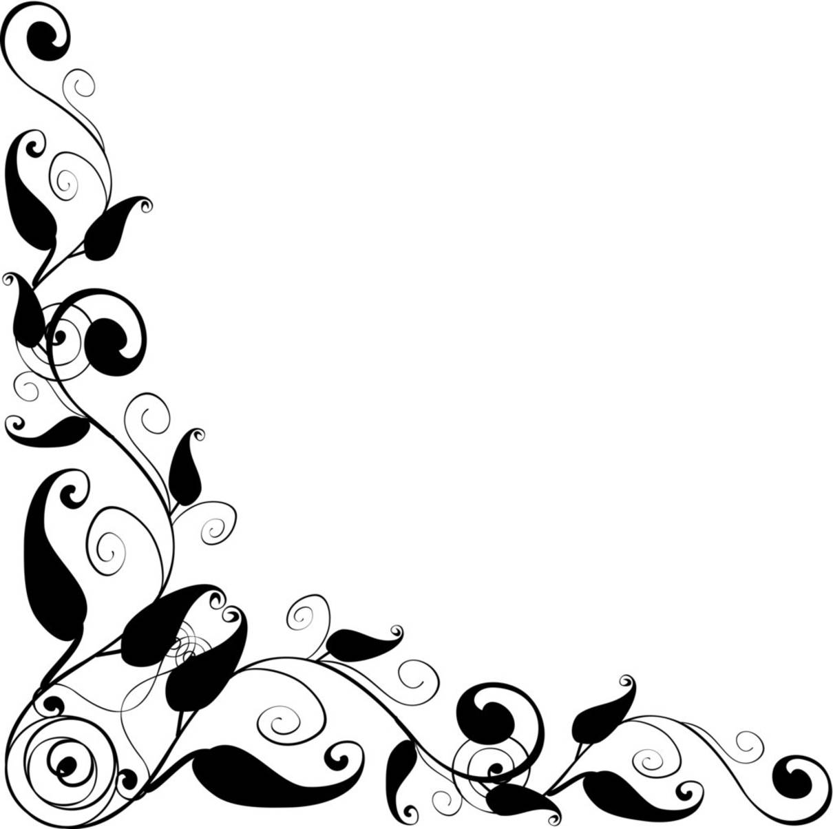 Floral Border Design Clip Art