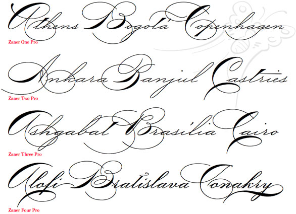 Font Handwriting Fancy Cursive