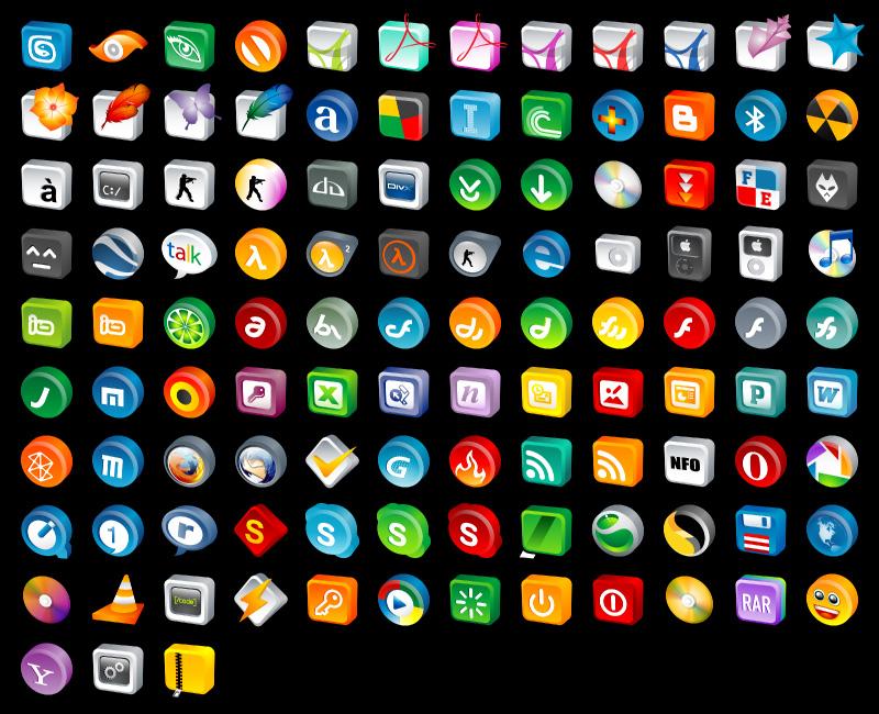 Free 3D Desktop Icons