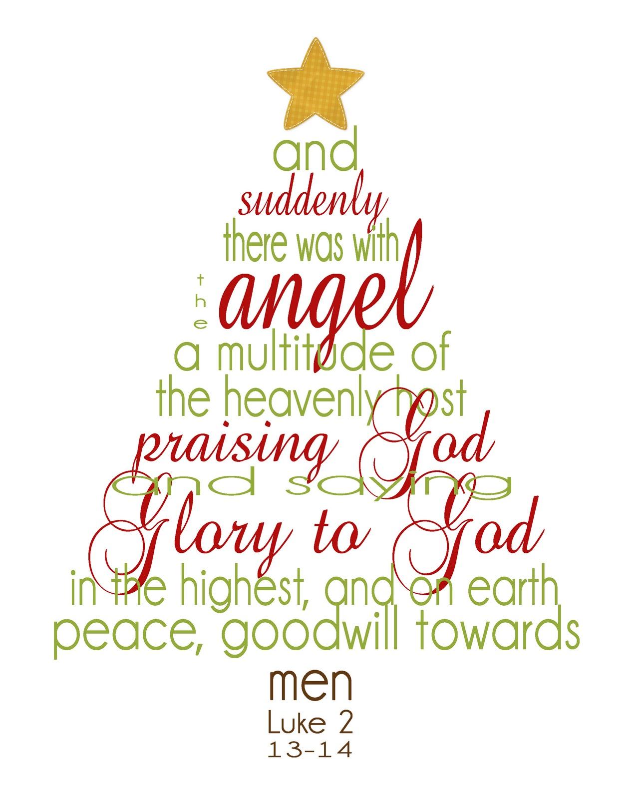 Free Printable Christmas Bible Verses
