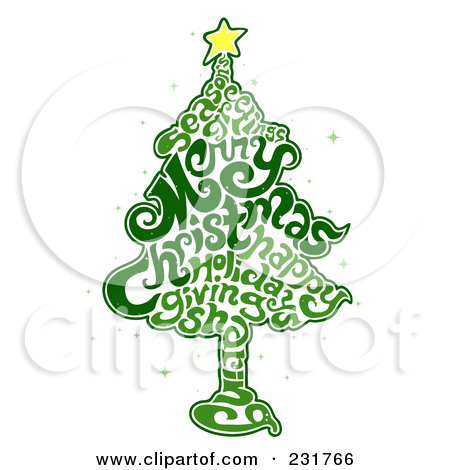 Free Printable Christmas Tree Word Art