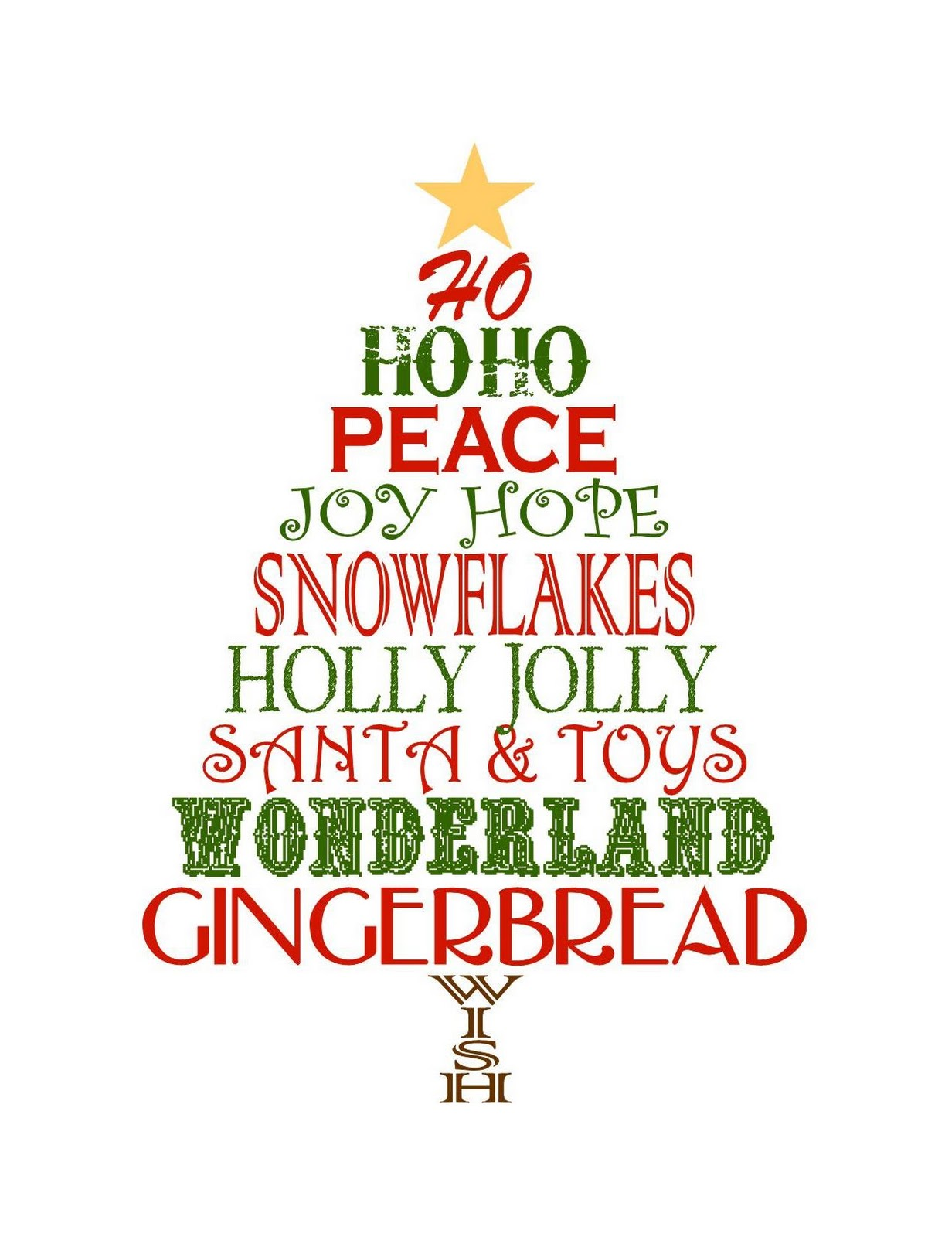 photo regarding Free Printable Christmas Tree identify 20 Phrases Xmas Trees No cost Graphics Pics - Xmas
