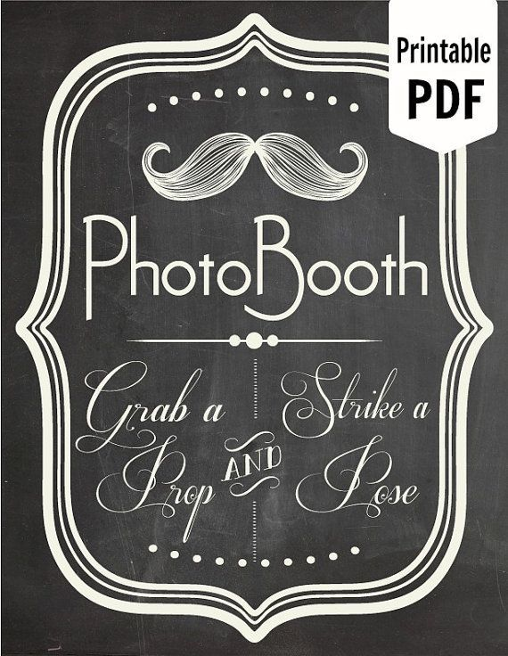 Free Printable Photo Booth Props Signs