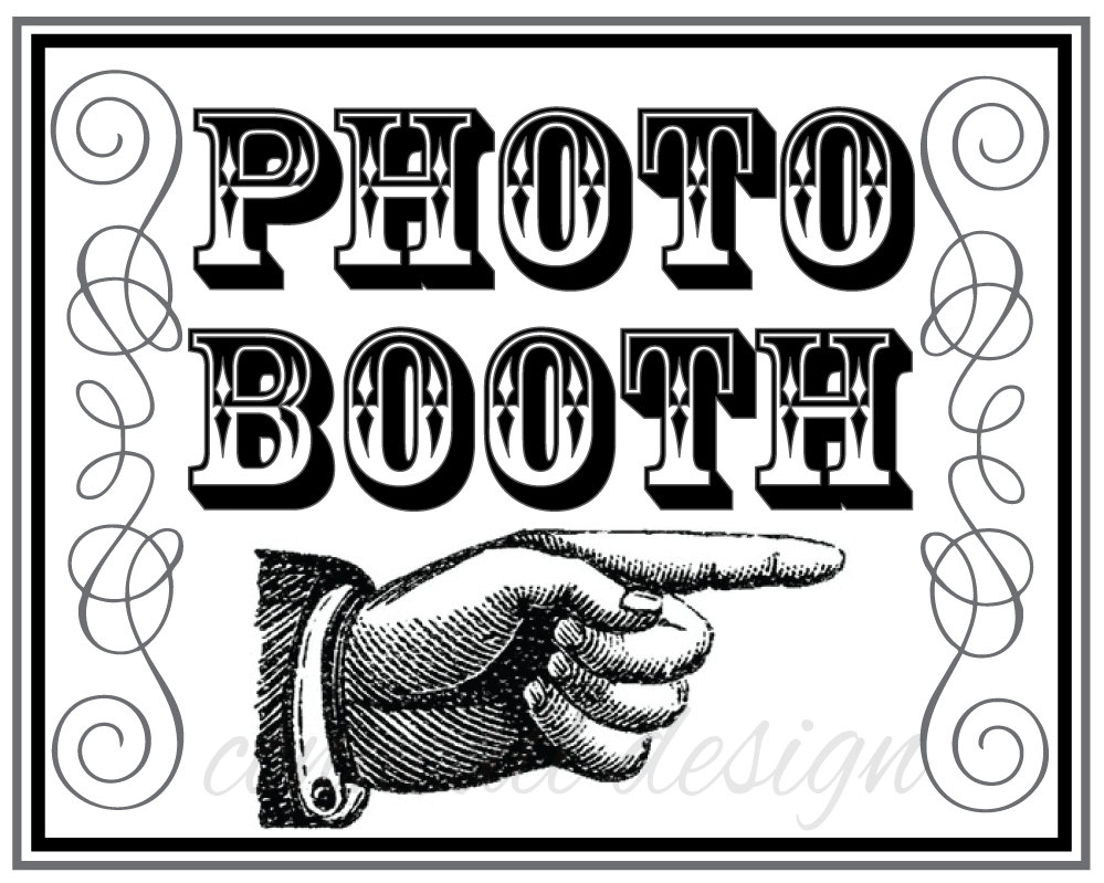 Free Printable Photo Booth Sign Templates