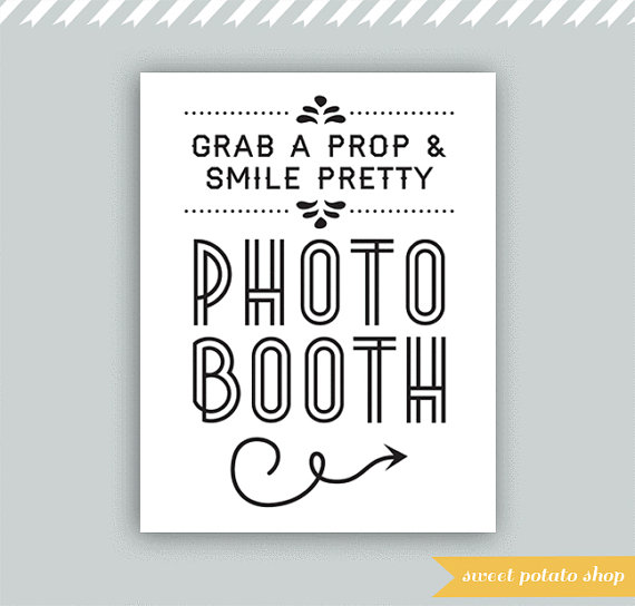 Free Printable Photo Booth Wedding Sign