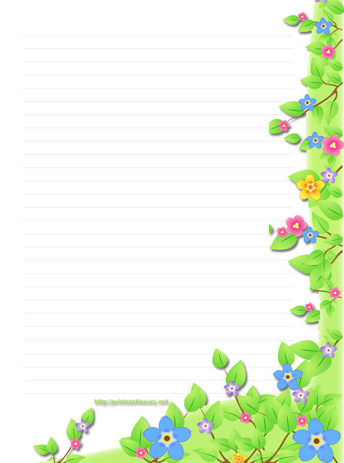 Free Printable Spring Paper