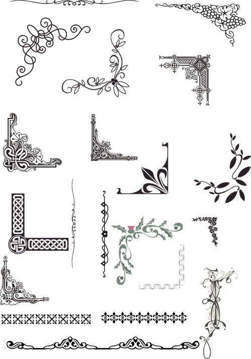Free Vector Corner Border Designs