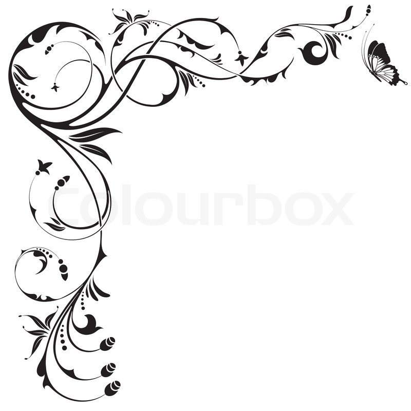 Free Vector Floral Border Designs
