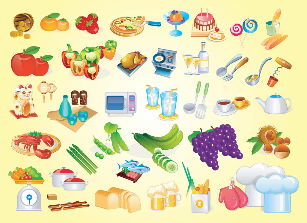 19 Food Vector Art Free Images