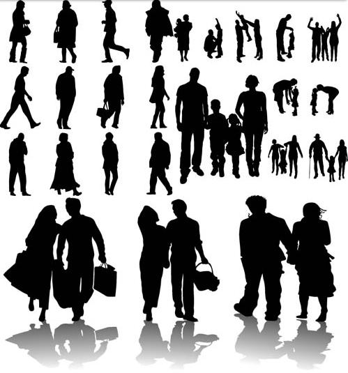 Free Vector People Walking