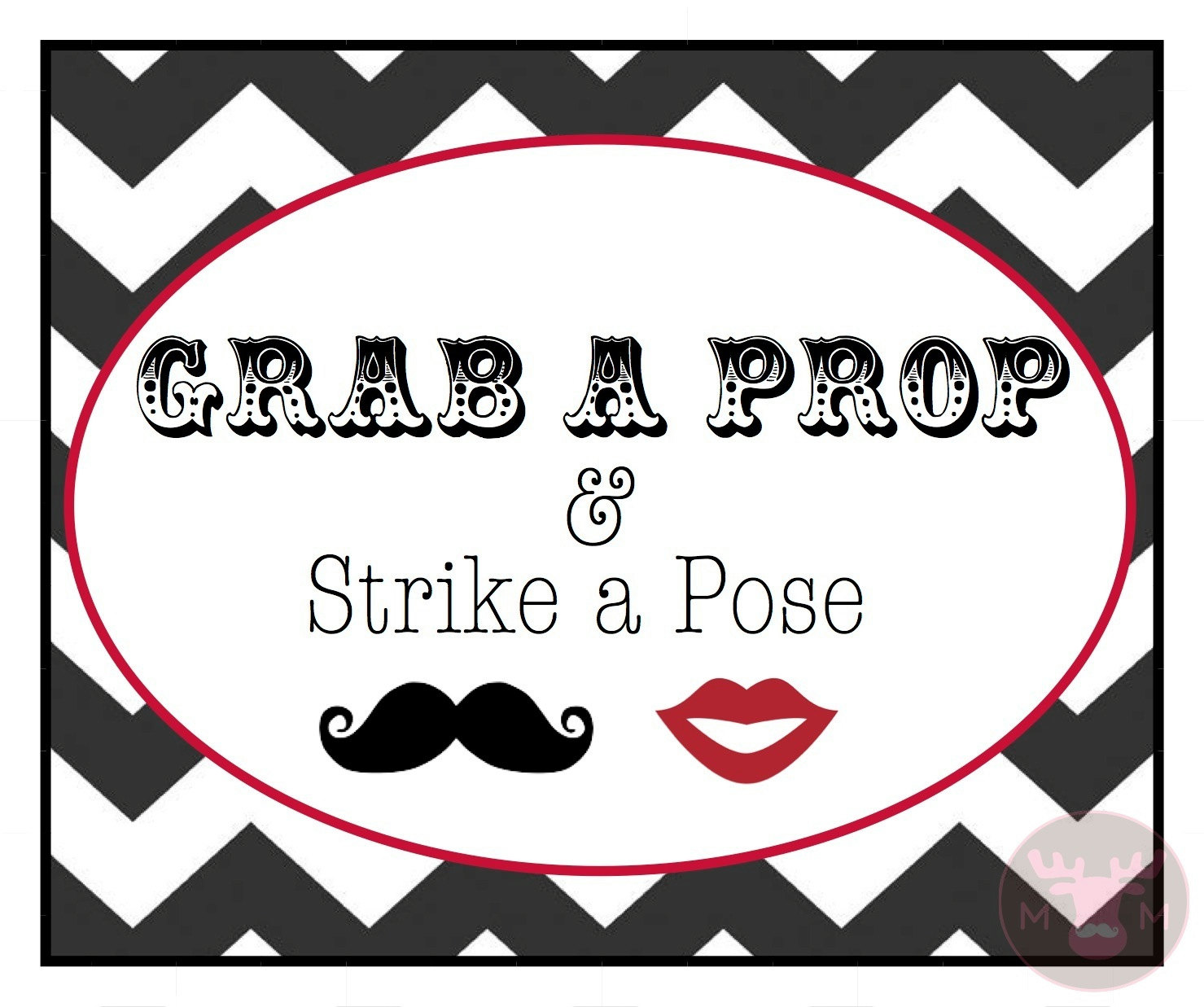 Grab a Prop Photo Booth Sign
