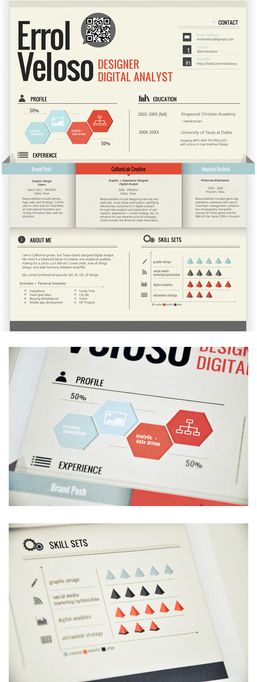 Graphic Design Resume Infographic