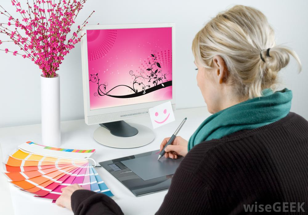 Graphic Designer On Computer