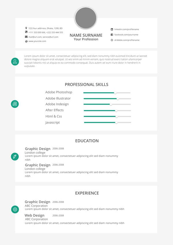 15 resume infographic powerpoint template images infographic resume templates infographic