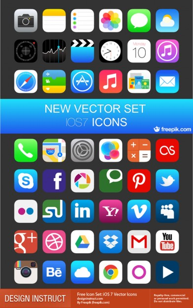 19 IOS 7 Icons Free Images