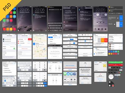 18 IOS UI PSD Images - App for iOS 7 iPad UI Designs, iOS 7 UIKit ...