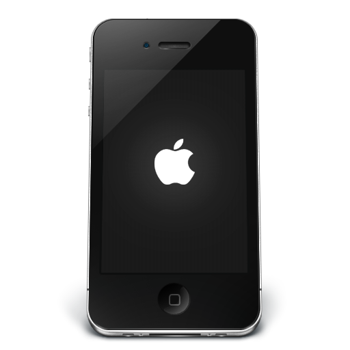 iPhone Phone Icon Black