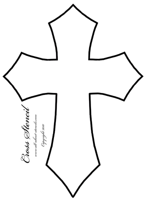 Large Printable Cross Stencil