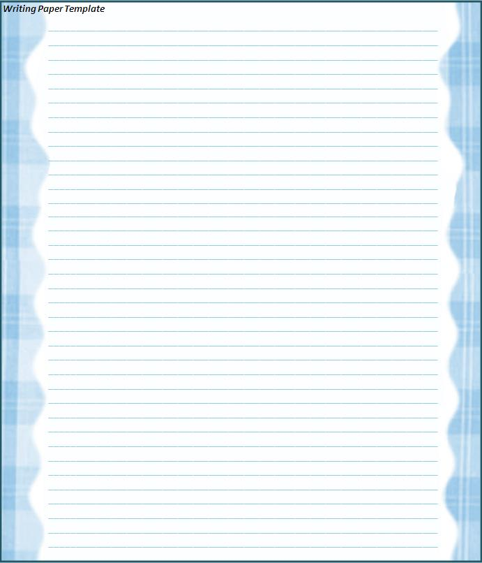 Line Paper Template for Word