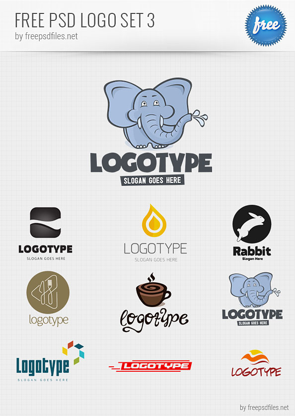 Logo Design Templates Free PSD Pack