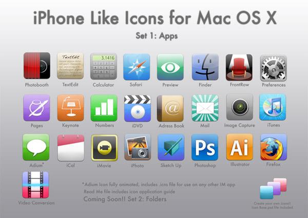 complete mac os x icon set