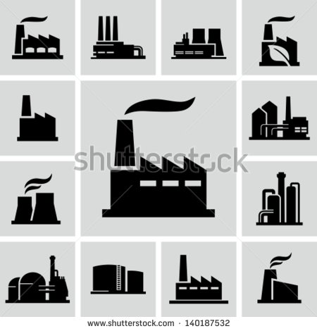 Manufacturing Factory Icon