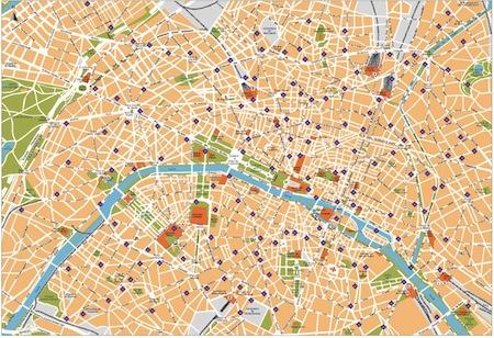Map of paris streets