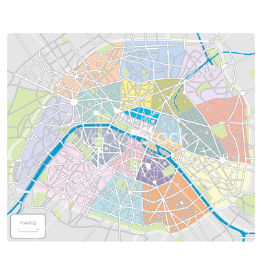 map of paris france landmarks