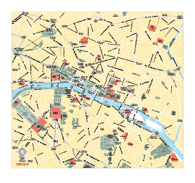 Mapa De Paris Centro.12 Vector Map Of Paris Images Vector Paris Map Paris Area