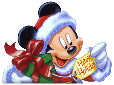 14 PSD Mickey Christmas Images